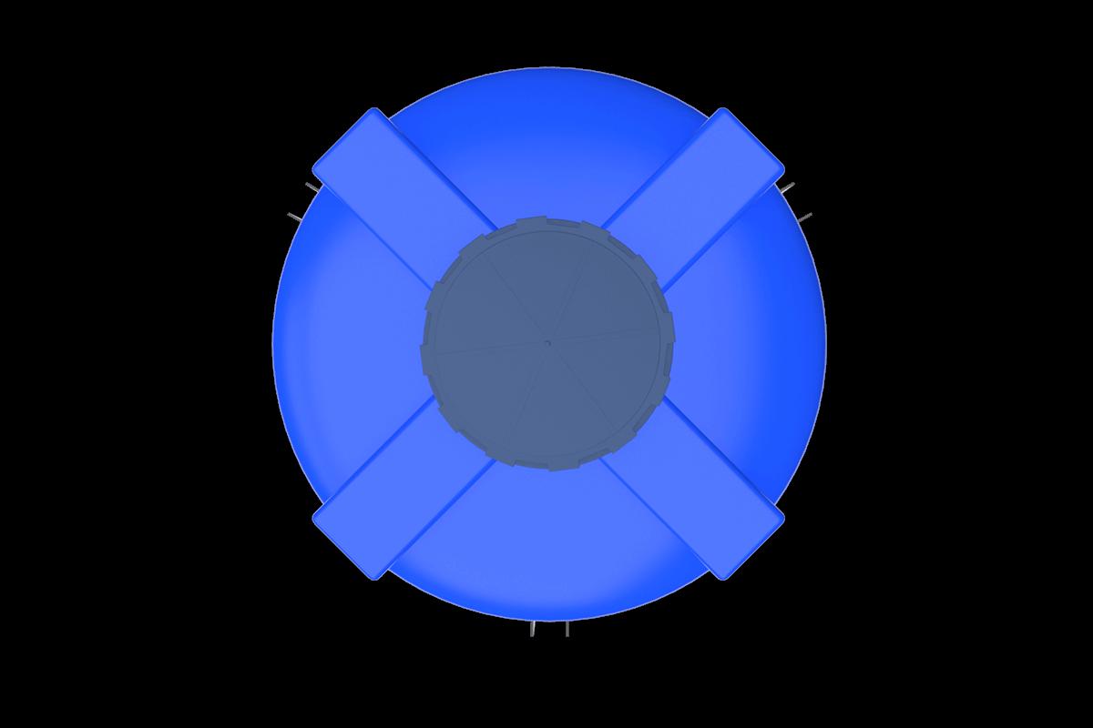 1000 Litre Mavi Kapalı Ağız Silo Deposu Fiyatı