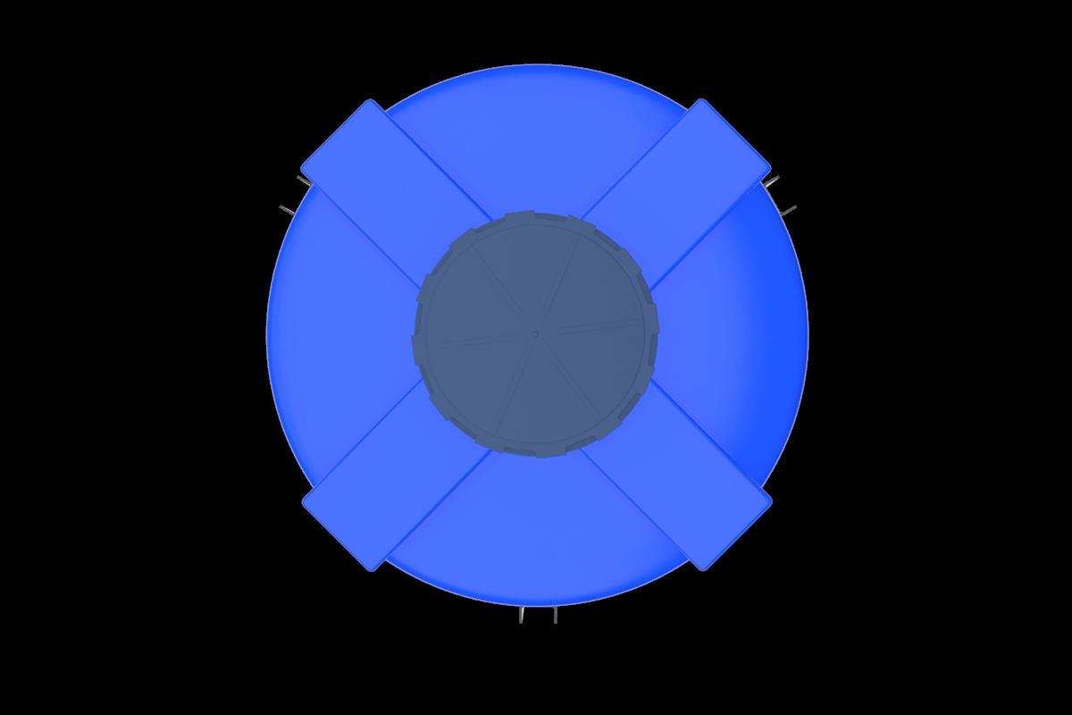 1500 Litre Mavi Kapalı Ağız Silo Deposu Fiyatı