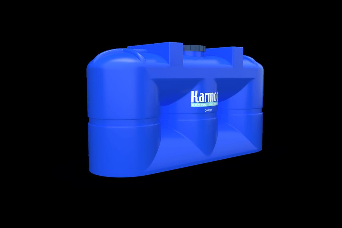 2 Ton Mavi Plastik Toprak Altı Depo Modeli