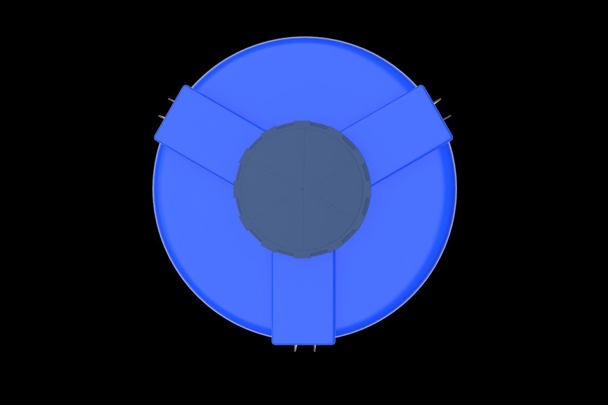 2000 Litre Mavi Kapalı Ağız Silo Deposu Fiyatı