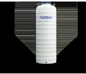 500 Litre Plastik Dikey Boru Tipi Su Deposu Beyaz