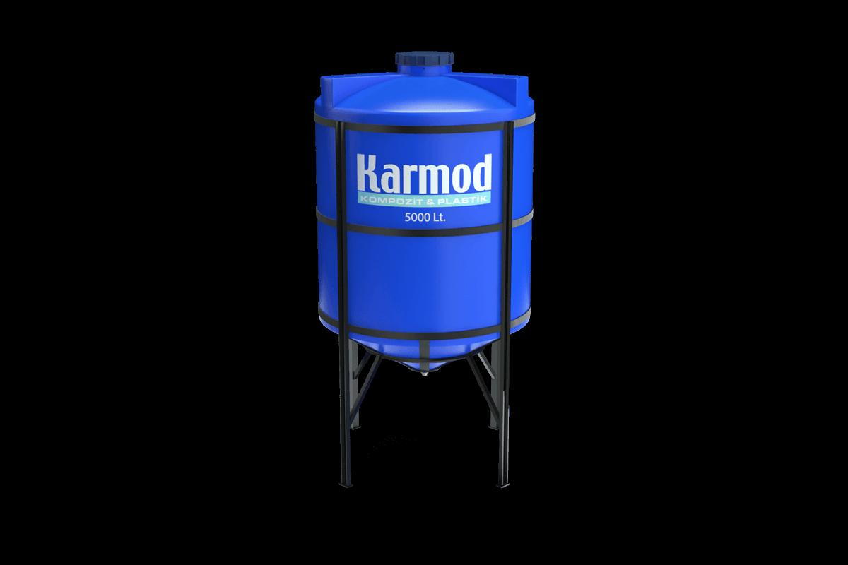 5000 Litre Mavi Kapalı Ağız Silo Deposu Modeli